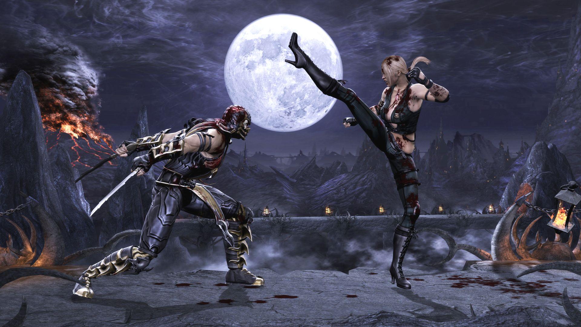 Mortal Kombat 2011 Sonya Blade Vs Scorpion Pit Jpg Obrazek Jpeg 1920 1080 Pikseli Skala 89 Mortal Kombat 9 Mortal Kombat Mortal Kombat Komplete Edition