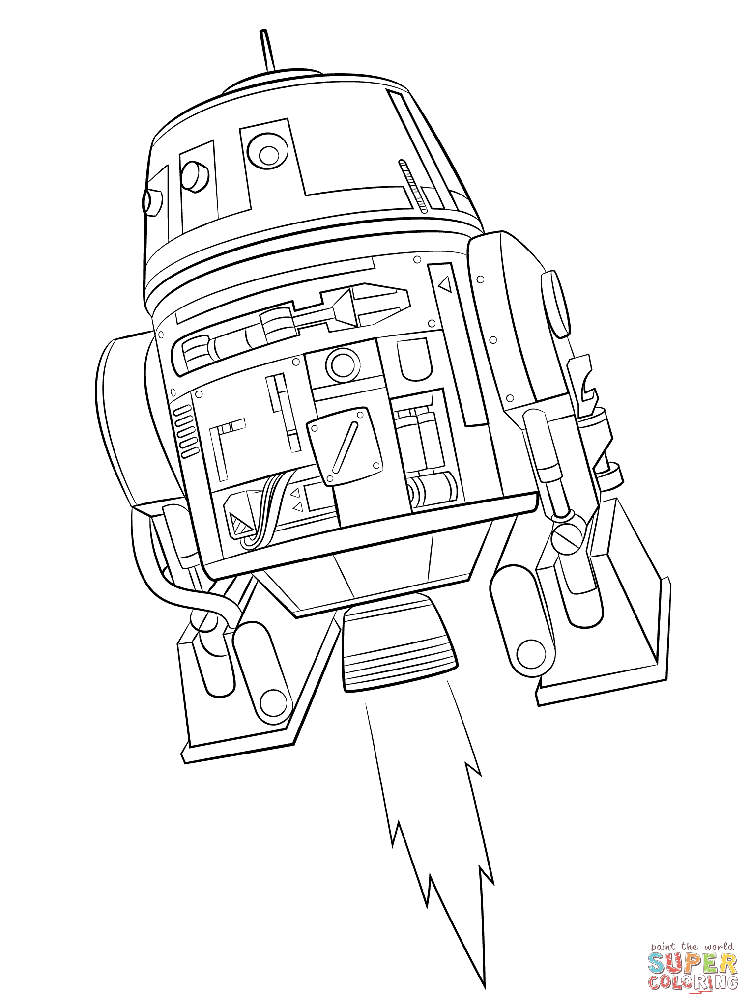 Star Wars Rebels Chopper Coloring Page Supercoloring Com Kika