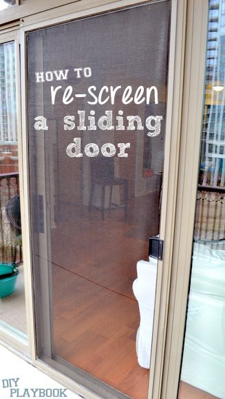 How To Re Screen A Sliding Door Diy Screen Door Diy Sliding