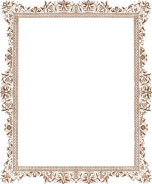 certificate borders for word Flower Border, Graduation Certificate