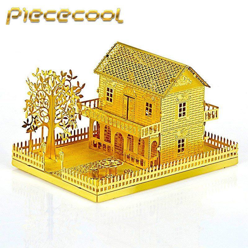 Specifications: Brand: Piececool Theme: Building Puzzle Name: Mini Villa  House Model: Material: Brass Weight: Products Size: L 8