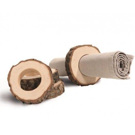 Serviettenringe Set 4teilig: Ring mit Rinde – Handwerk
