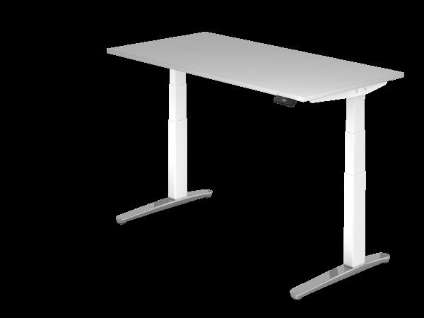 Sitz Steh Schreibtisch Elektrisch 160x80cm Graphit Weiss