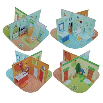Printable Pop Up Papercraft Dollhouse Paper Doll House
