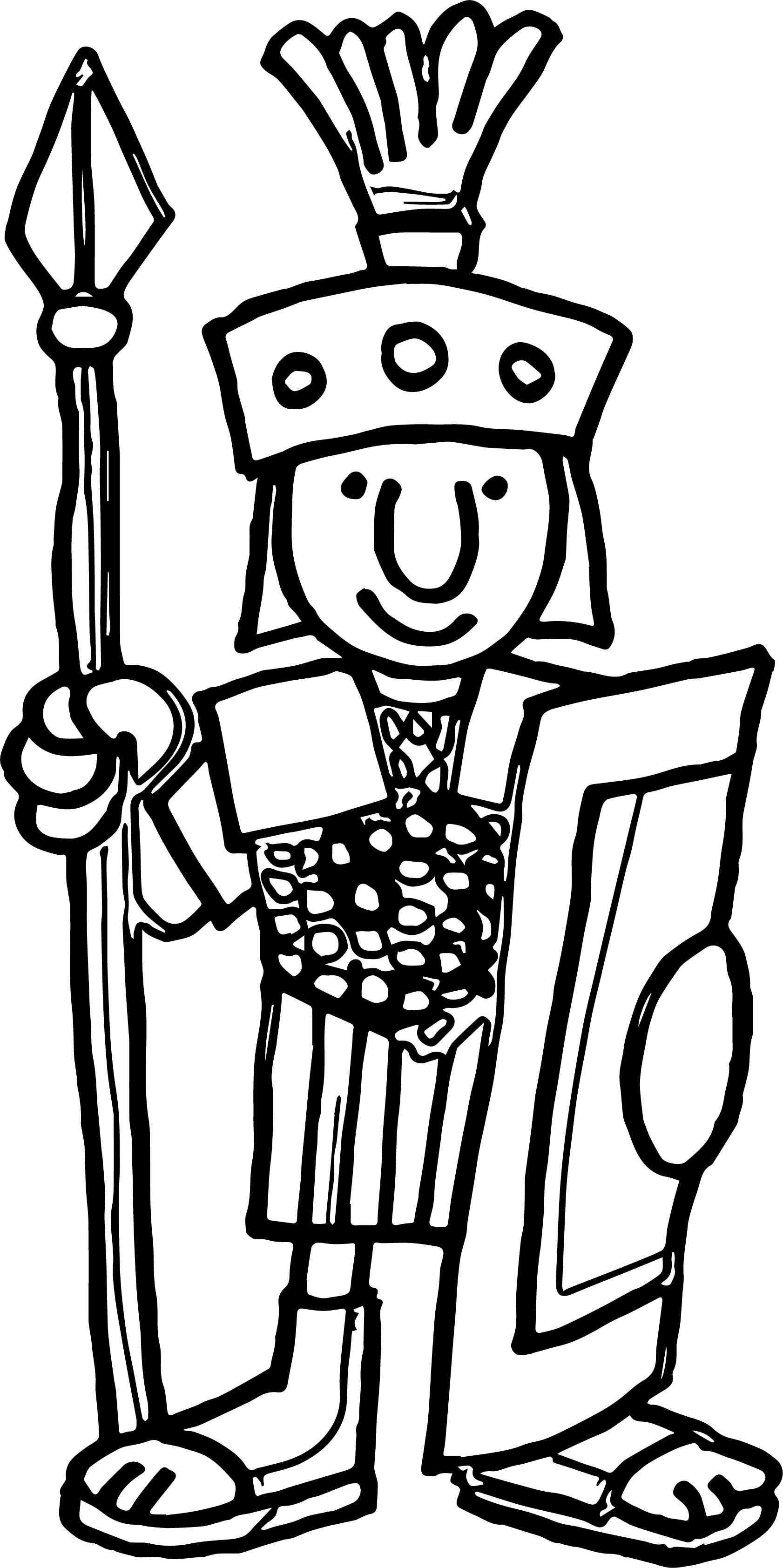Cool Go Back Gt Gallery For Cartoon Roman Soldier Coloring Page