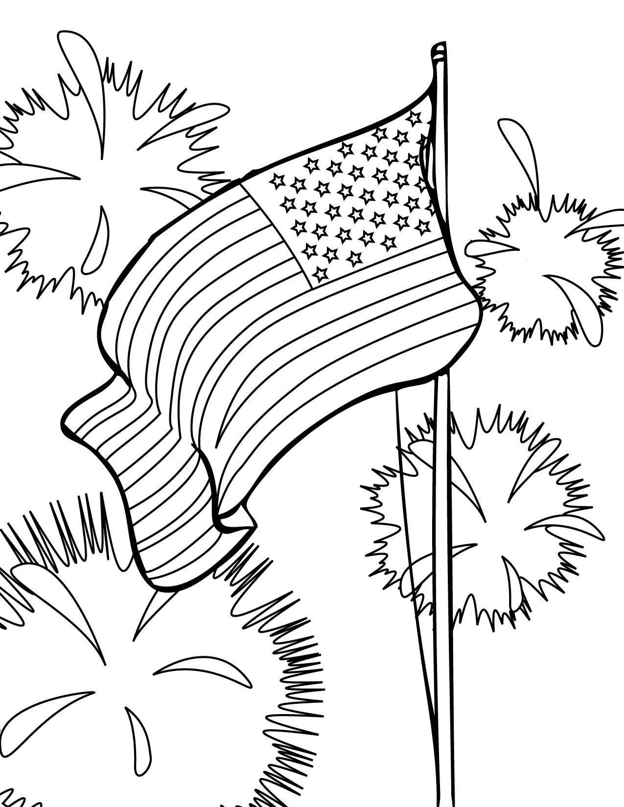 fourth of july usa coloring pages for preschool kindergarten and elementary school children - Elementary Coloring Sheets