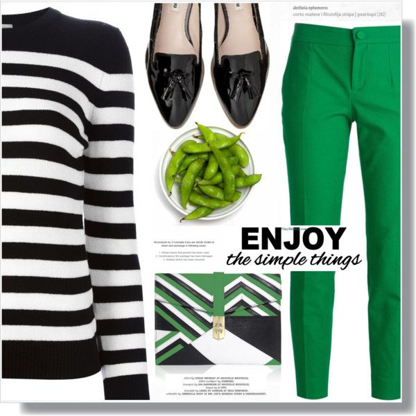 A fashion look from September 2015 featuring Yves Saint Laurent sweaters, Dolce&Gabbana pants and Miu Miu flats. Browse and shop related looks.