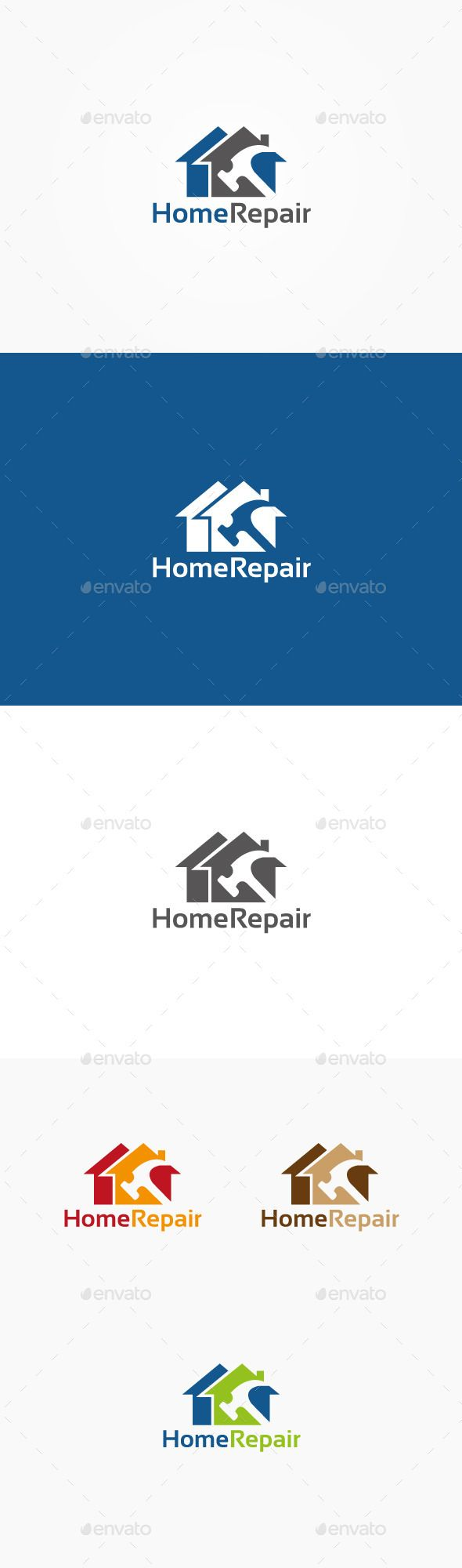 Home Repair Logo u2014 Vector EPS #work #home u2022 Available here u2192 https://graphicriver.net/item/home-repair-logo/9702041?ref=pxcr