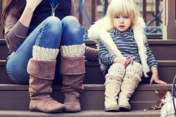THICK Mommy and Daughter Matching Oatmeal Fleck and by knitfortat, $32.00