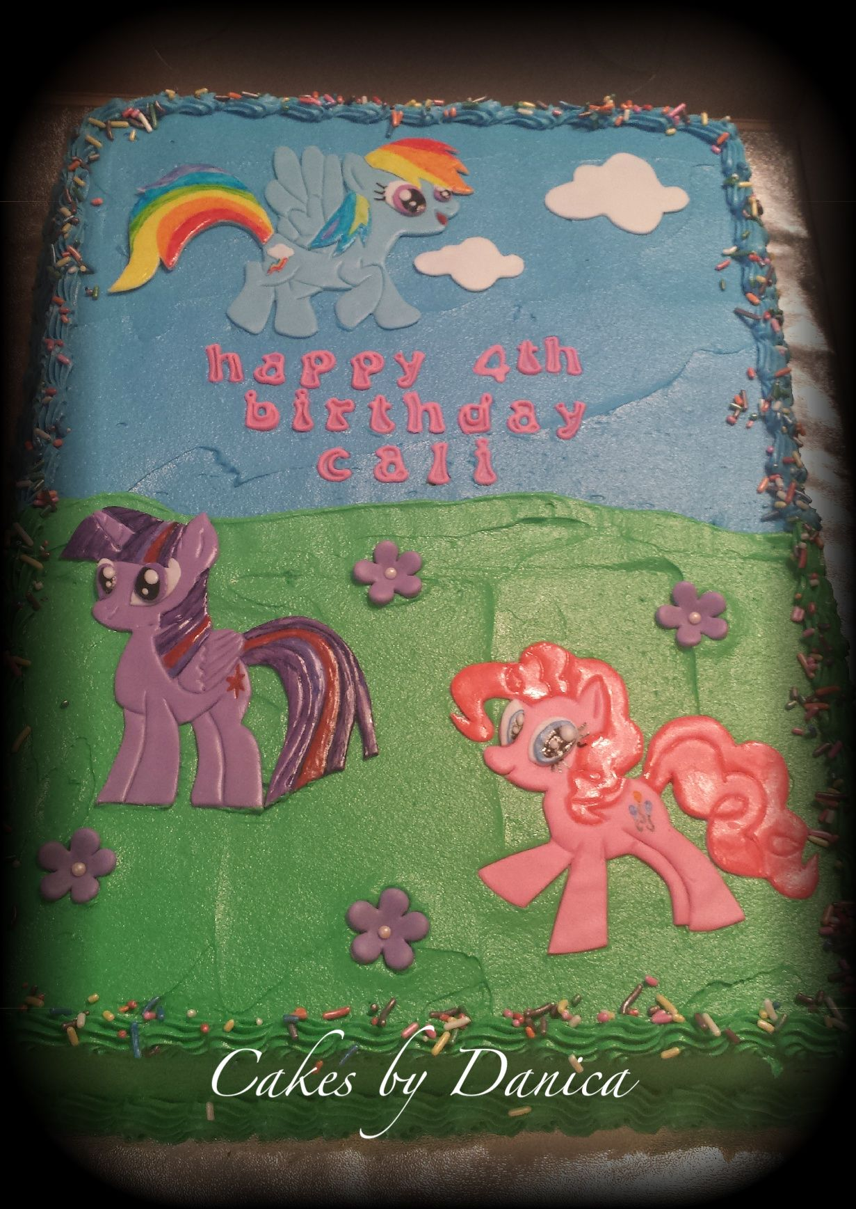 my little pony sheet cakes