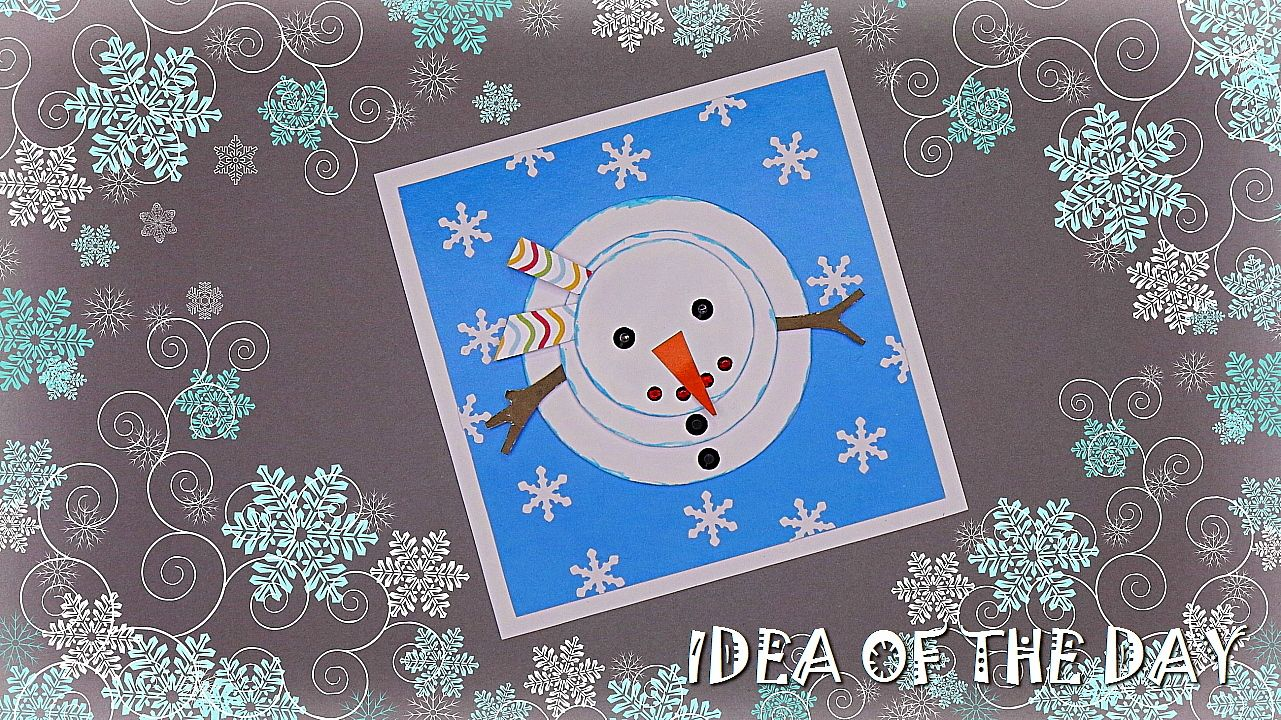 Handmade Christmas Card Snowman How To Make Christmas Card