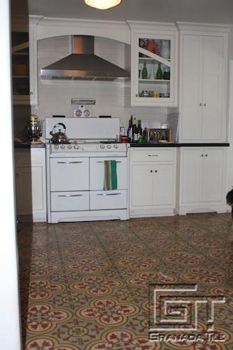 Beau In A Bold Custom Color Combination, Granada Tileu0027s Cluny Tile Design Makes  A Splash In A Kitchen