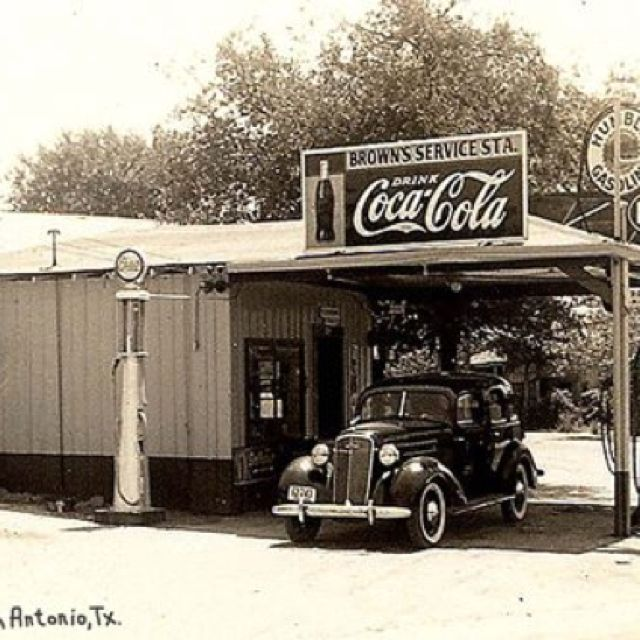 Brown S Service Center San Antonio Tx 1938 Vintage