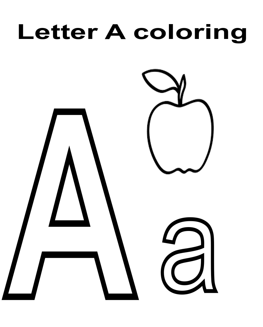 Learn the alphabet and words while coloring with our