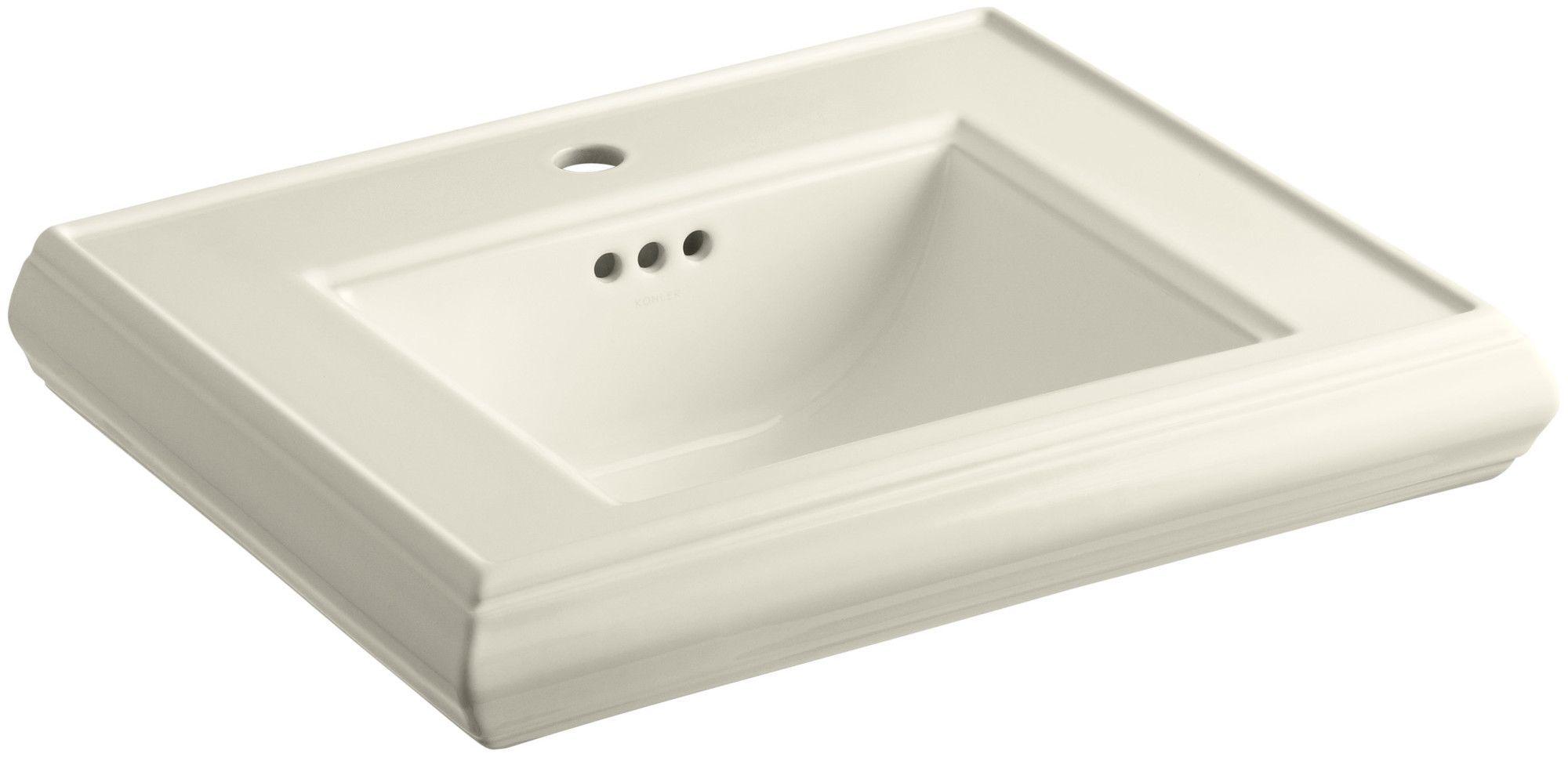 Memoirs Ceramic 24 Pedestal Bathroom Sink With Overflow Sink