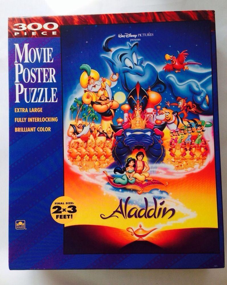 walt disney aladdin movie poster puzzle 300 piece new and