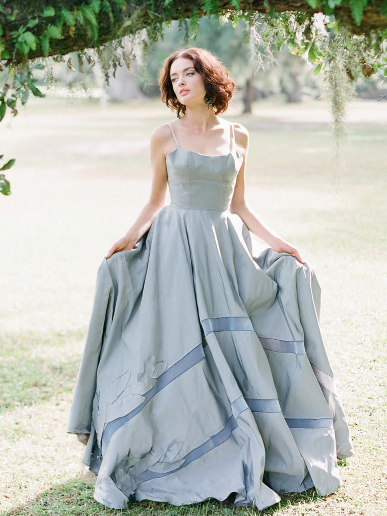 20 Dreamy Blue Wedding Dresses | Ice blue weddings, Blue wedding ...