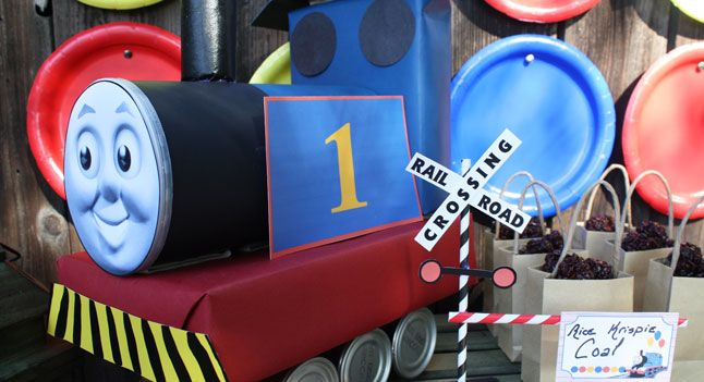 Thomas Oatmeal Canister Train Thomas and Friends Party PBS
