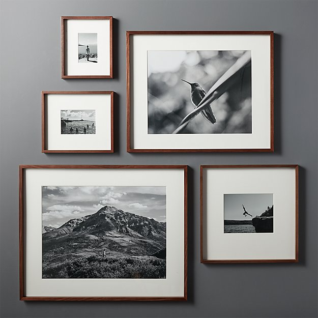 Gallery Walnut 11x14 Picture Frame Reviews Cb2 Gallery Wall Layout Picture Frame Wall Picture Gallery Wall