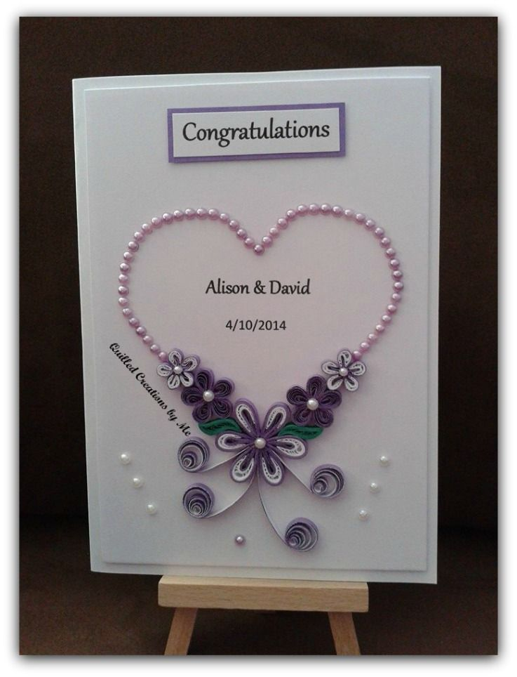 quilled wedding card madequilled creationsme