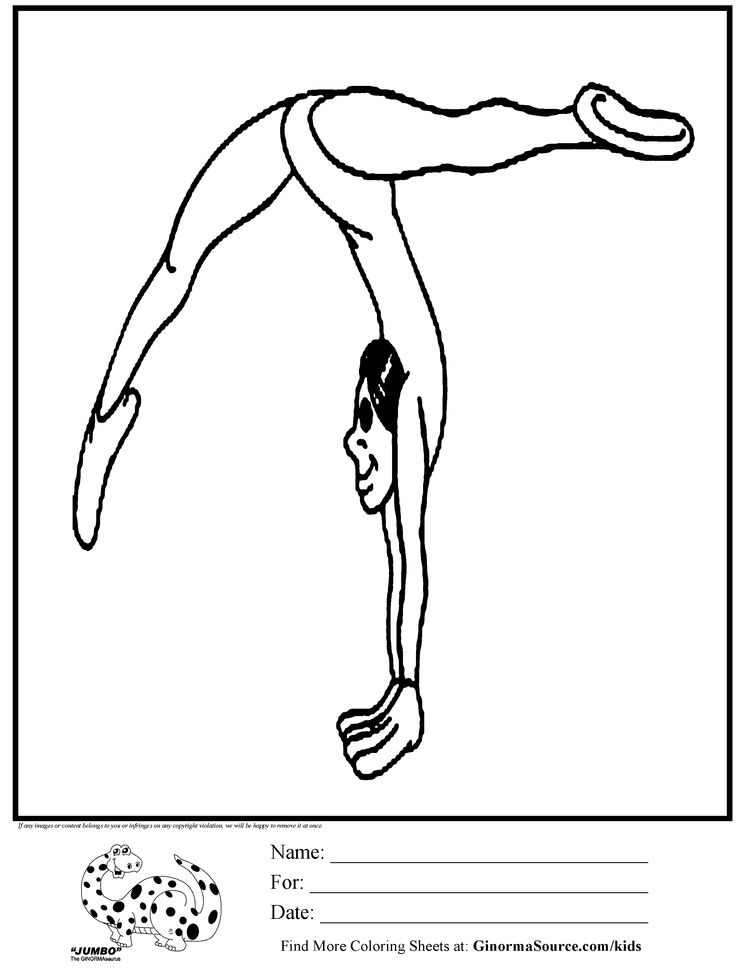 Gymnastics Coloring Pages For Kids 5461