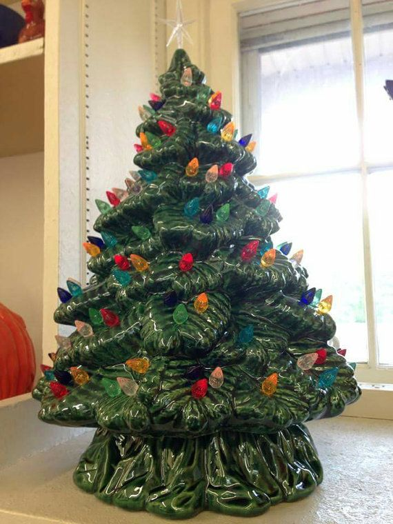 you are purchasing a finished glazed ceramic christmas tree it comes equipped with lights and star we have wired this tree for you it will be - Large Ceramic Christmas Tree