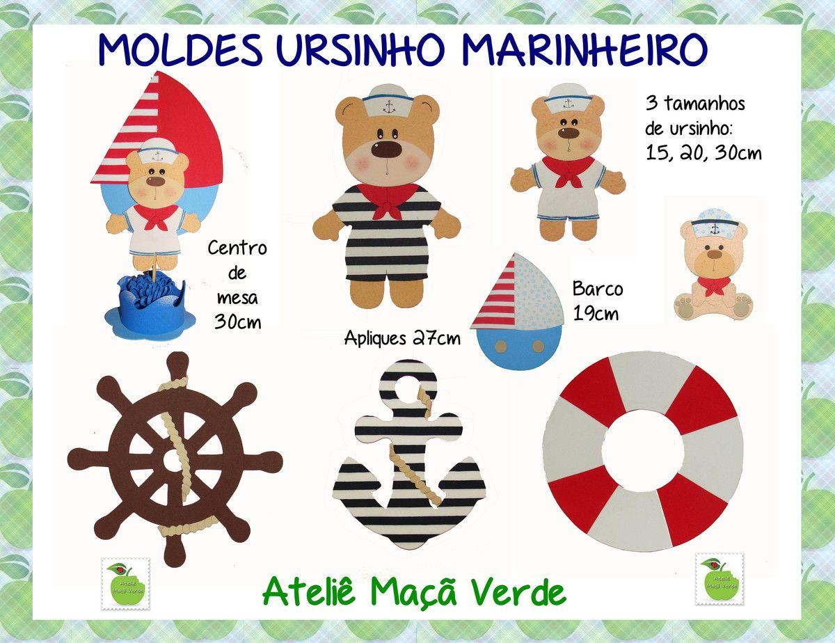 b578a60d15da6 molde ursinho marinheiro feltro - Pesquisa Google