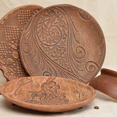 Handmade ceramic plates dinnerware set 3 serving plates stoneware dishes & Handmade ceramic plates dinnerware set 3 serving plates stoneware ...