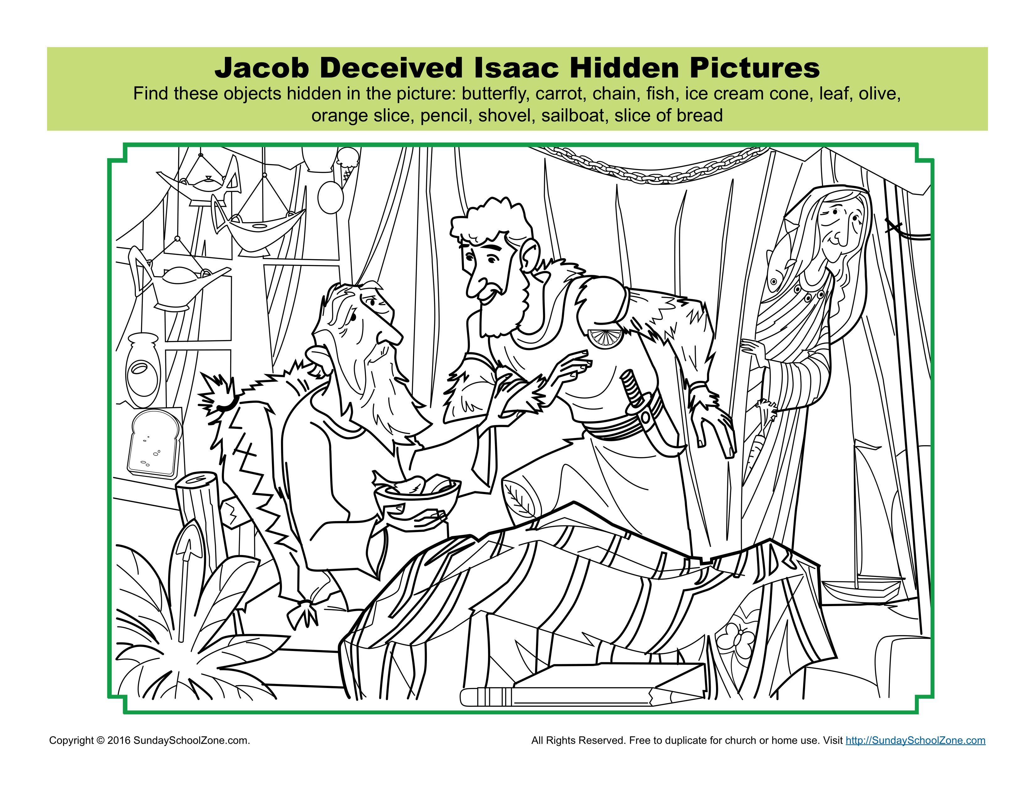 Jacob Deceived Isaac Hidden Pictures Activity