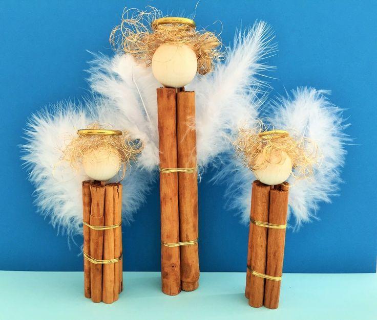 Advents- & Weihnachts-DIY-Projekt: Engel aus Zimtstengeln basteln mit Kindern - einfach & schnell