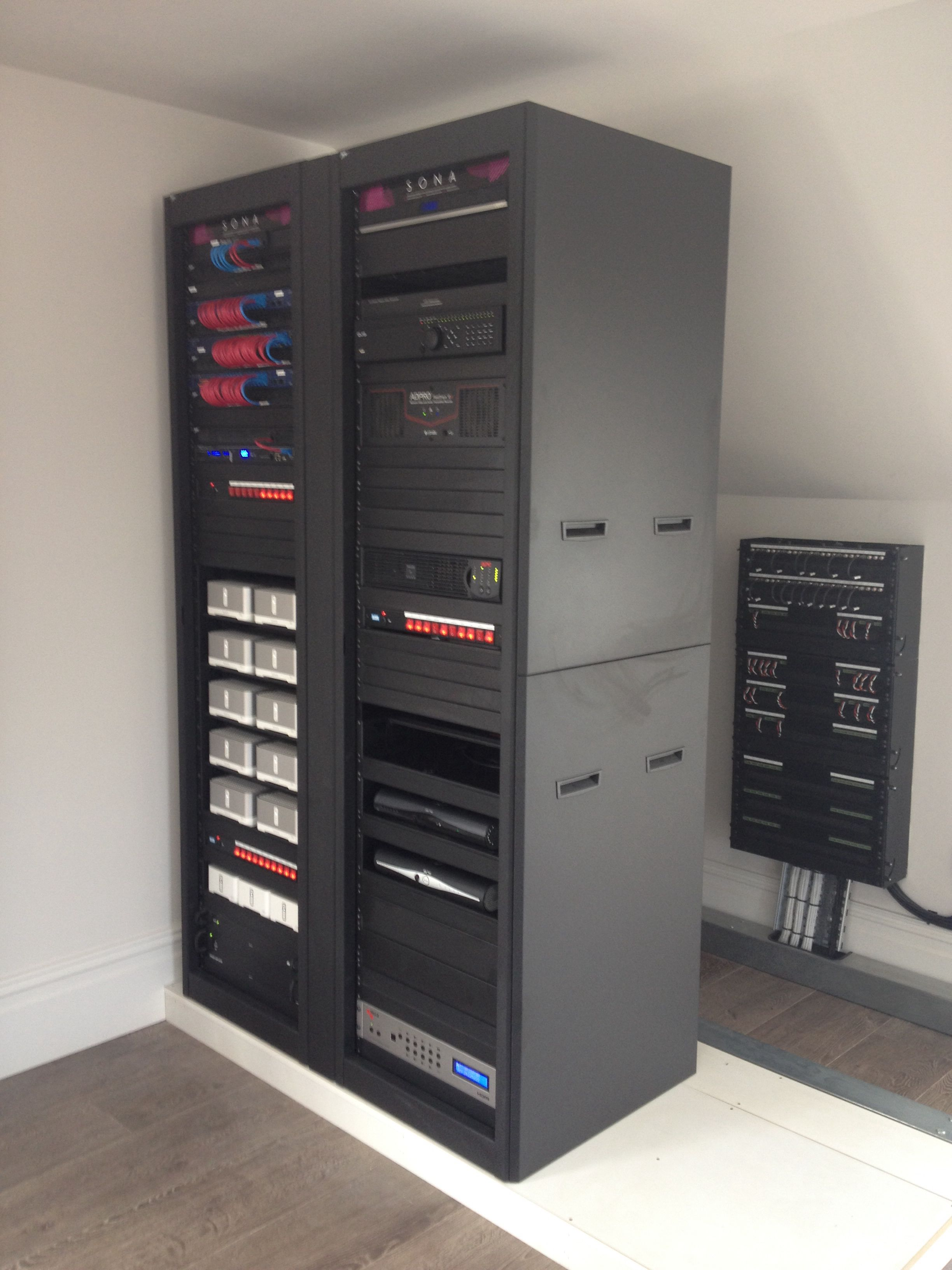 Main rack in place and showing cable rack behind. | Rack Building ...