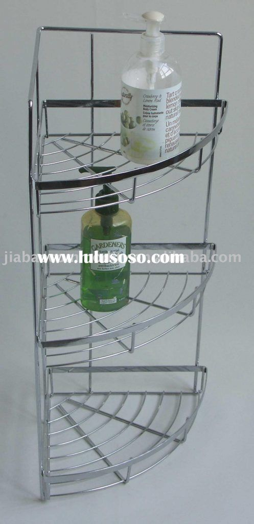Bathroom Corner Shelf Small Bathroom Corner Glass Shelf Image Wall ...
