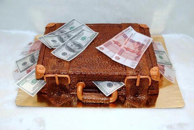 торт с мастикой кейс с деньгами