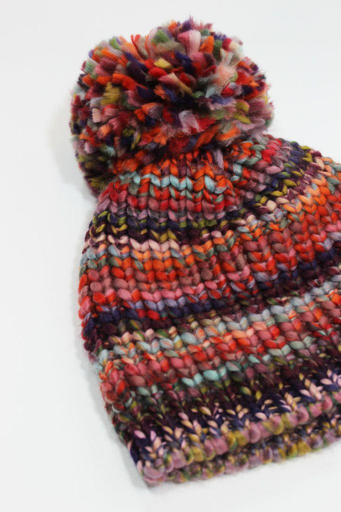 Olivia Bobble Hat – Space dye bobble hat. Mixed violet b4e66bf0f