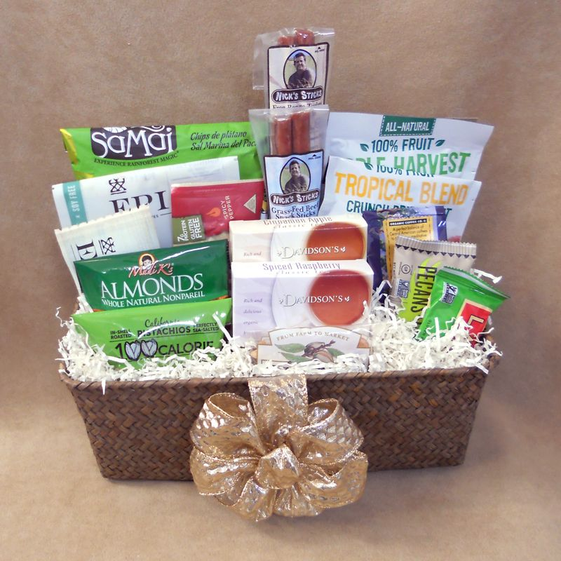 Filled with paleo goodies this basket comes with a wide variety this basket comes with a wide variety of paleo goodies including organic tea and coffee protein snacks dried fruits nuts and snack bars negle Image collections