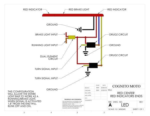 led brake light turn signal frame loops cognito moto scrambler rh pinterest com