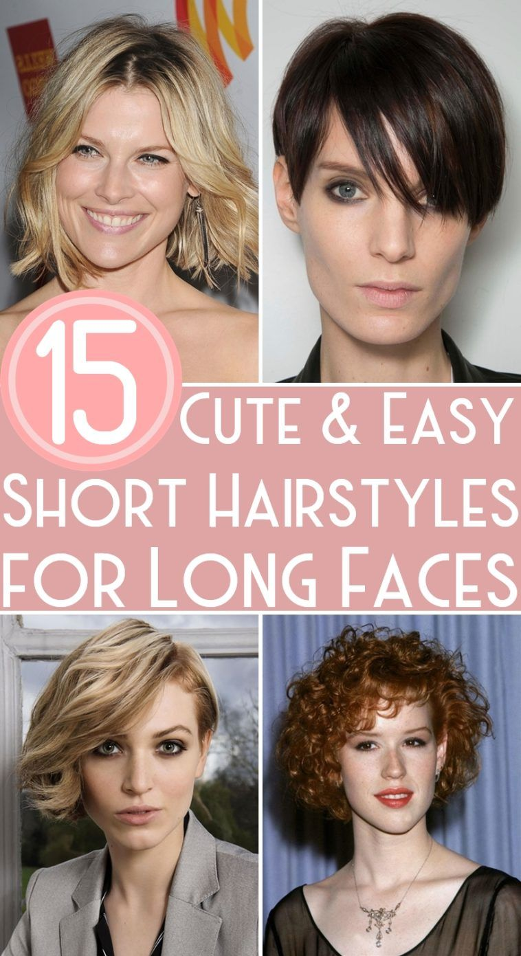 15 Cute Easy Short Hairstyles For Long Faces Long Face Haircuts Short Hair Styles Long Face Shapes