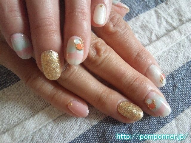 Peacock Nail Pale Color Japanese