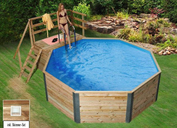 Holzpool WEKA Korsika   Schwimmbecken Aus Holz   Eine Erfrischende  Abk Hlung An Hei