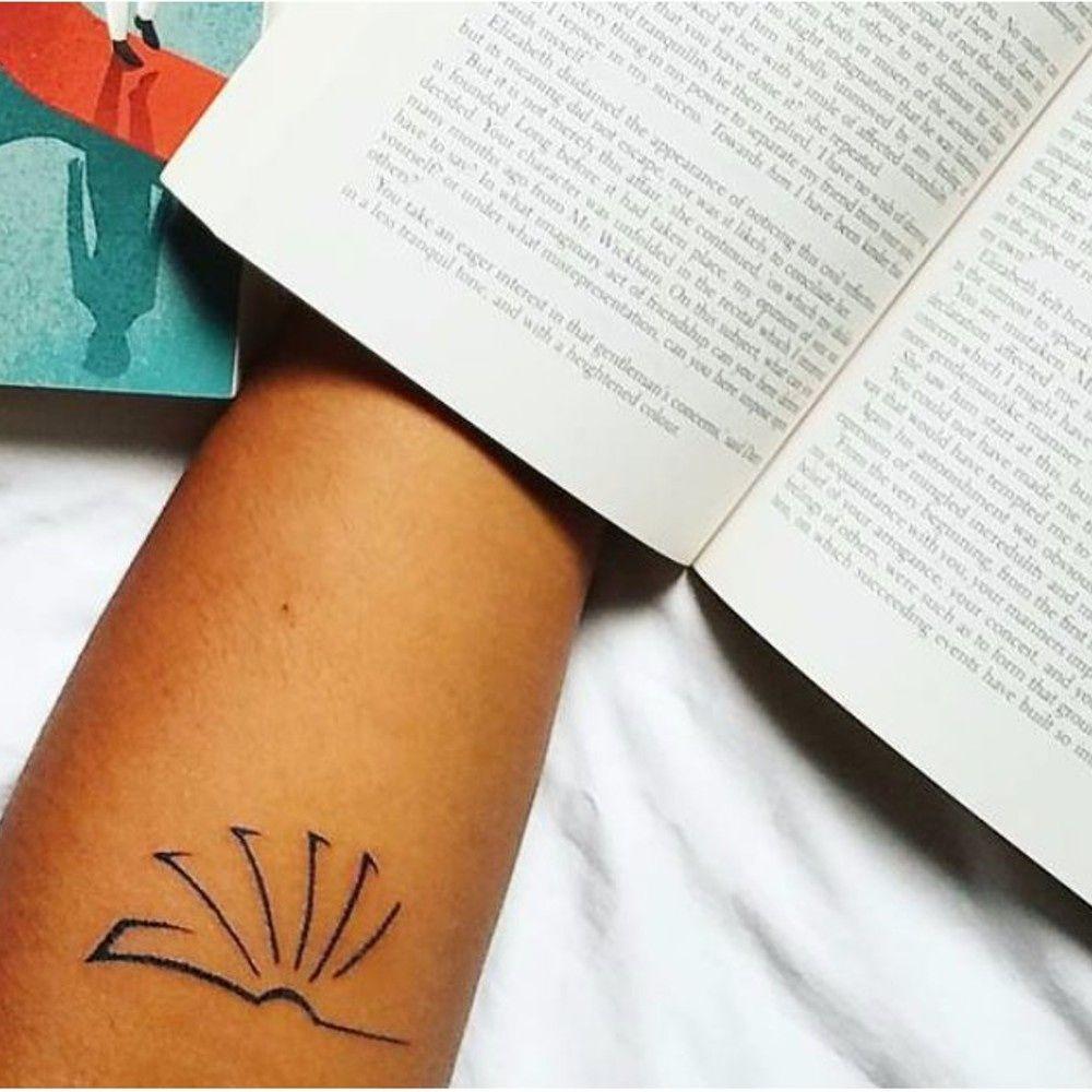 105 Book Tattoos For The Ultimate Reader Bookworm Tattoo Book Tattoo Tattoos