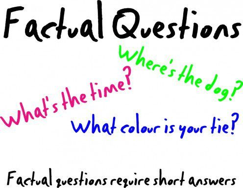 Factual questions only need short answers, they don't get