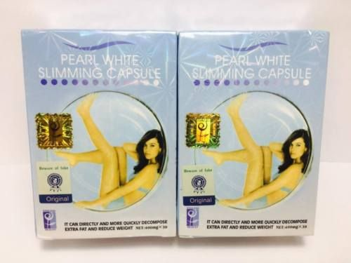 Pearl White Slimming Capsule Lose Weight Burn Fats Pills Slim Fit