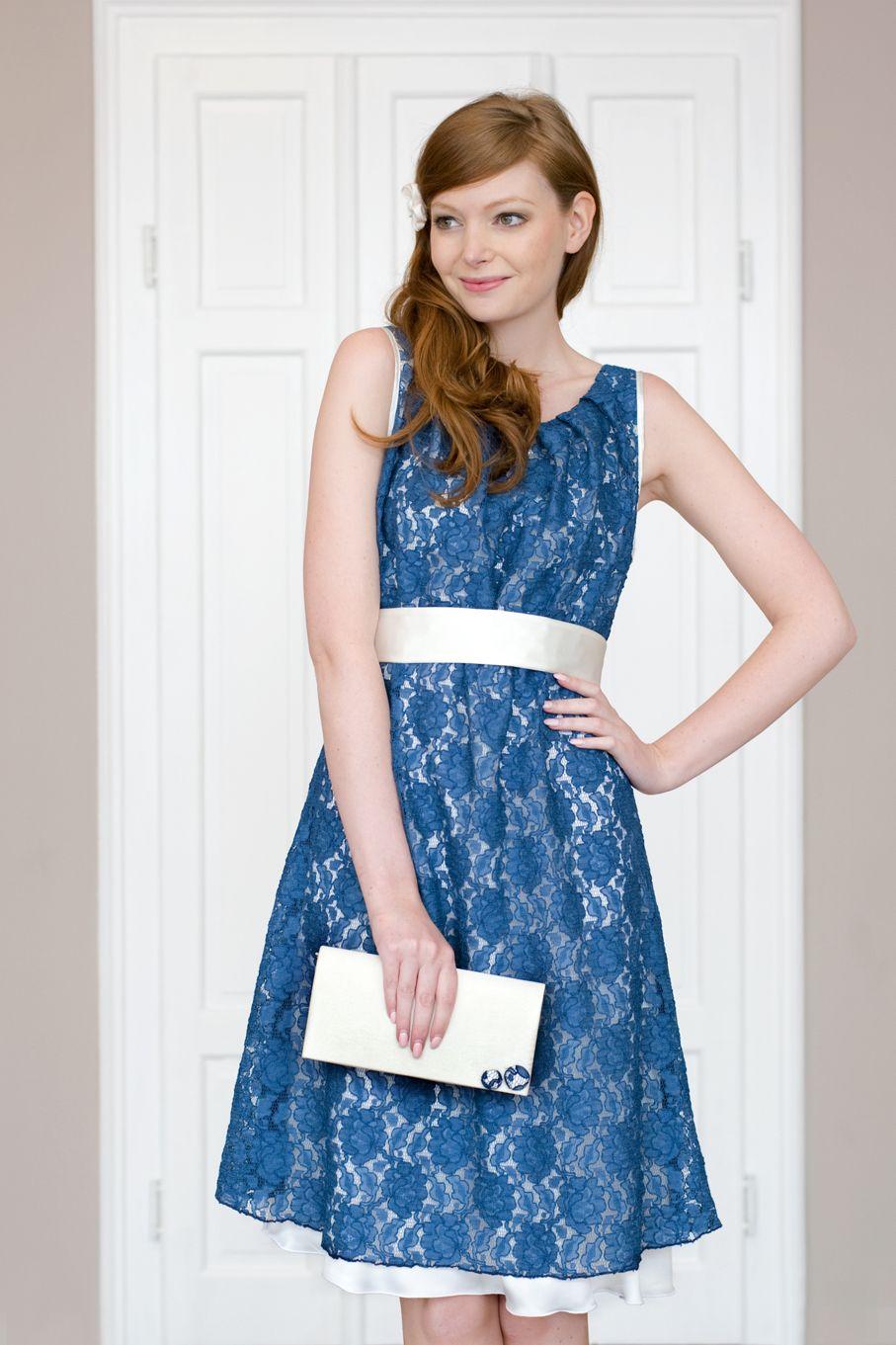 Labude - Spitzenkleid Chiara petrol Hochzeitsgast Elegantes Kleid ...