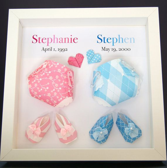 Personalized Name and Meaning Paper Origami Diapers and ...