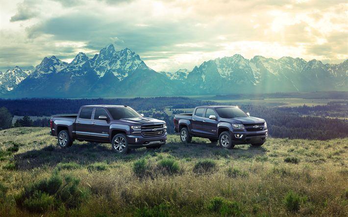Download wallpapers 4k, Chevrolet Colorado, Centennial Edition, Chevrolet Silver…