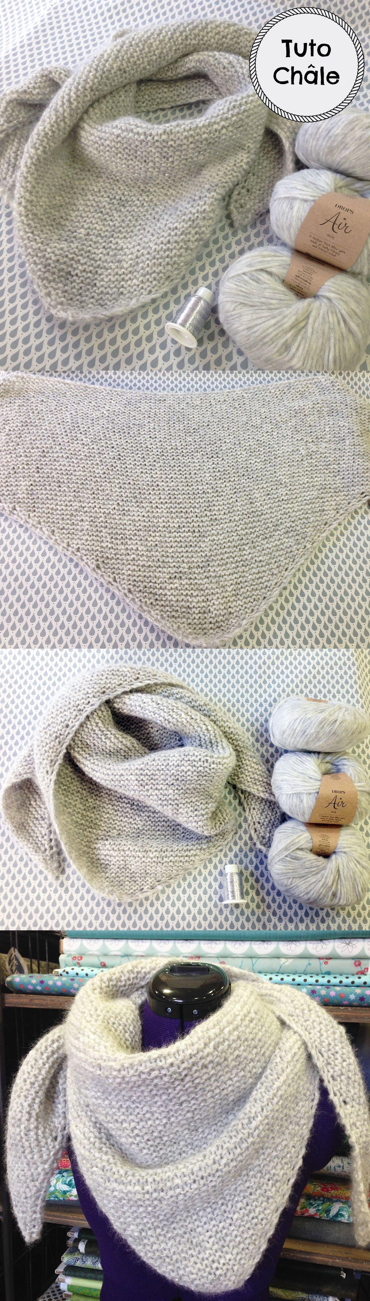 fef918ac164 chale loving embrace drops modele tuto facile par l atelier de la création