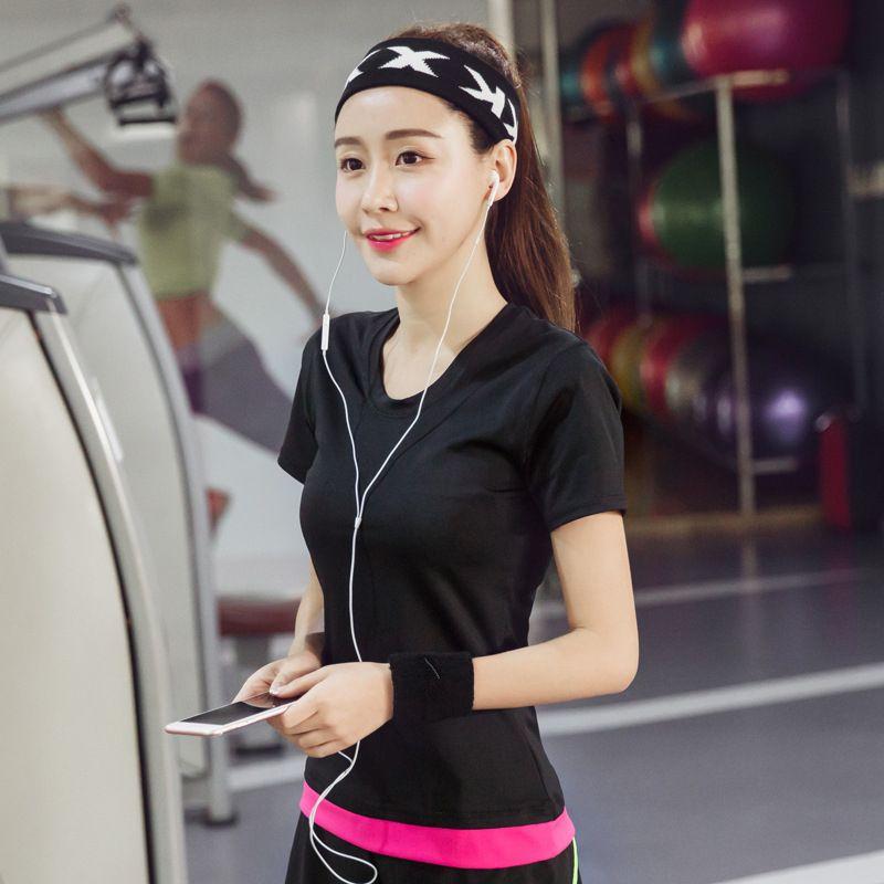 9884f959f Women Yoga Shirt Compression Quick Drying Tights Sport Short Sleeve T-shirt  Running Gym Fitness Female Jogging Bodybuilding Tees