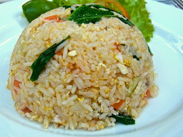 Gebratener Reis mit Fleisch :: Thairezepte - Thailändische ...