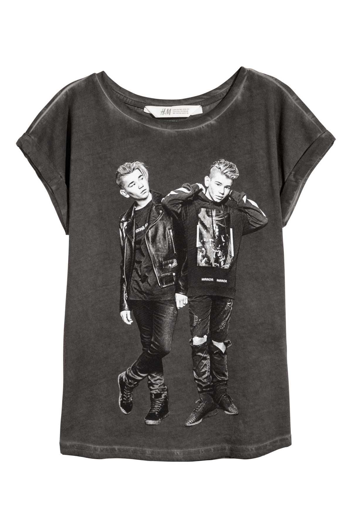 42428698ee8 Top with Printed Design | Black/Marcus & Martinus | KIDS | H&M US ...
