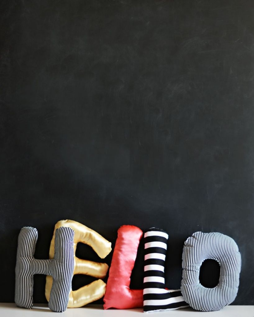 DIY: alphabet pillows